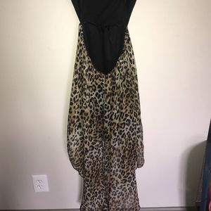 180b08d28ba Deb Dresses - Black cheetah print high-low dress